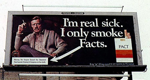I'm real sick. I only smoke Facts.