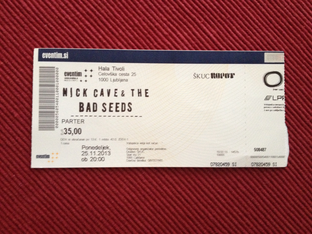 Nick Cave and the Bad Seeds – Ljubljana, Tivoli (25.11.2013)