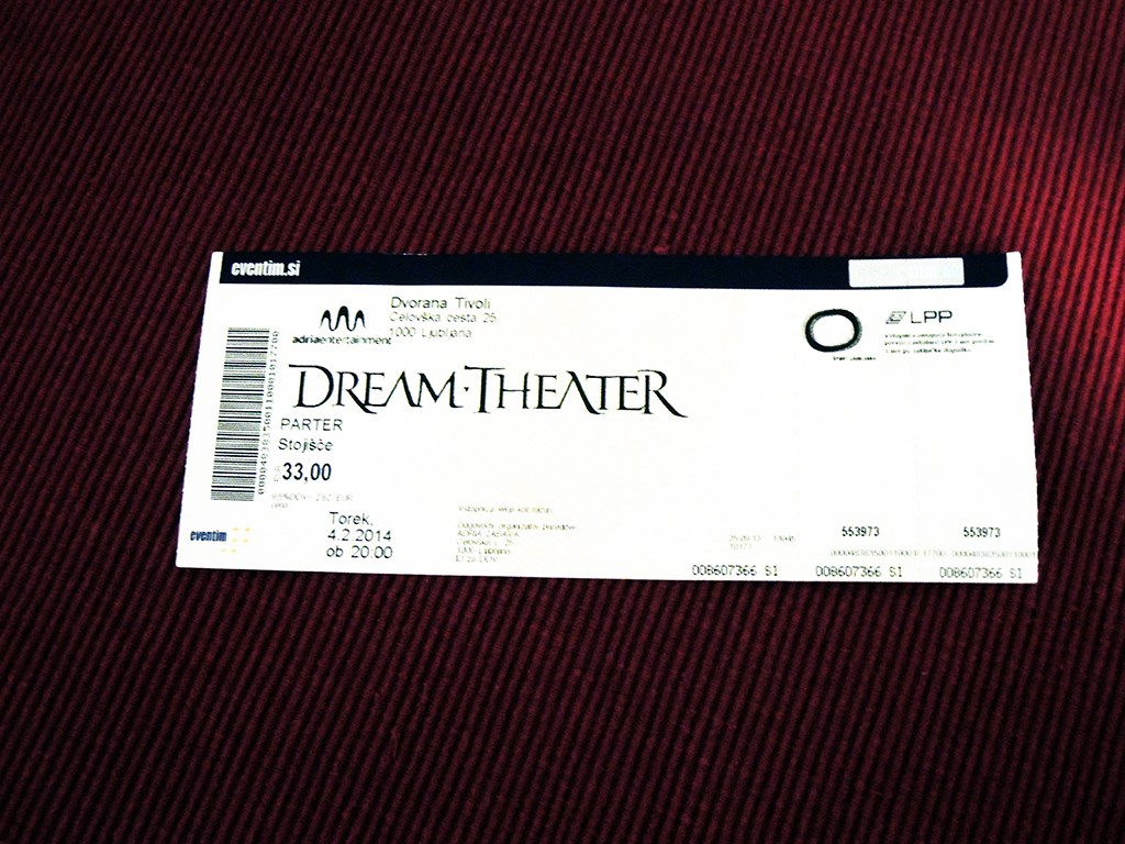 Dream Theater – Ljubljana, Tivoli (4.2.2014)