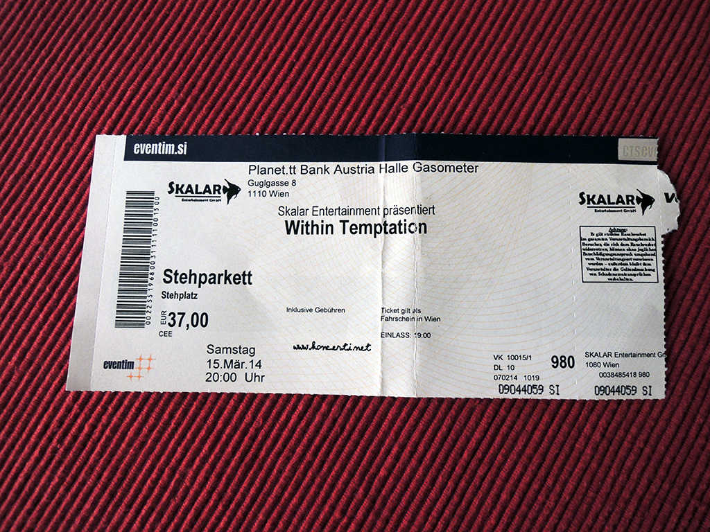Within Temptation – Dunaj, Gasometer (15.3.2014)