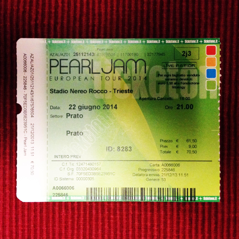 Pearl Jam – Trieste, Stadio Nereo Rocco (22.6.2014)