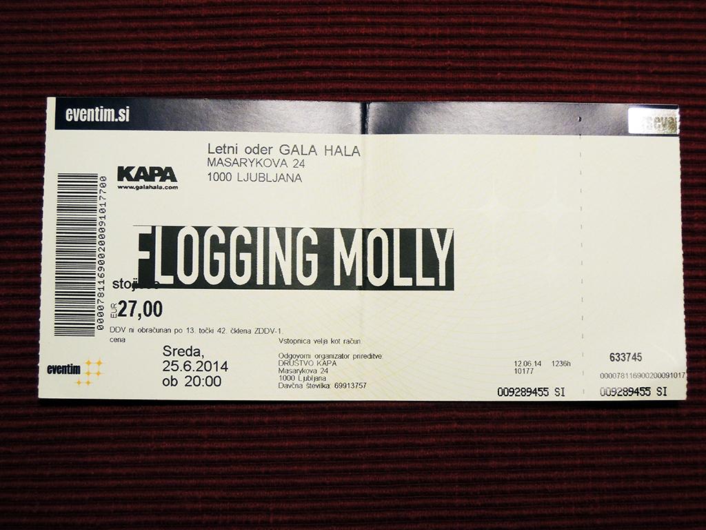 Flogging Molly – Ljubljana, Kino Šiška (25.6.2014)